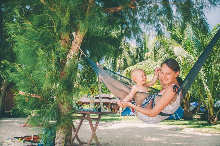 07. Wyspy Parhentian-Kecil-Malezja z dzieckiem