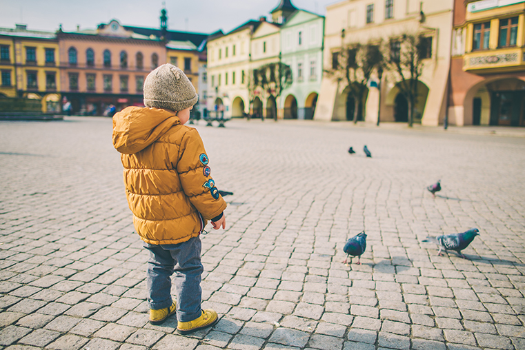 02.Cieszyn - przedwiosnie -z dzieckiem