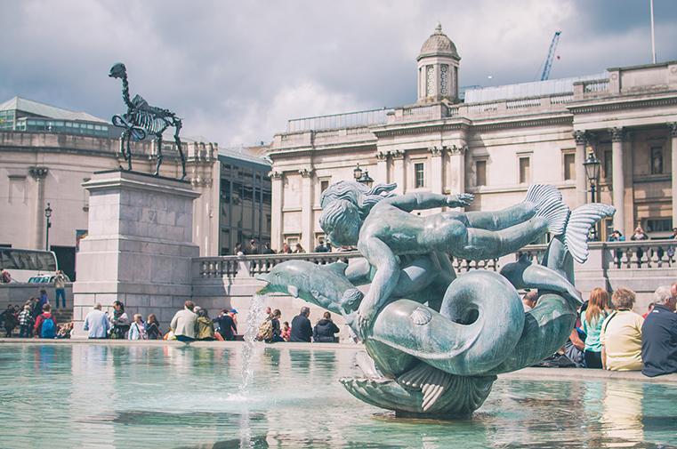 2a.Londyn z dzieckiem -Trafalgar Square