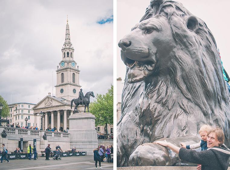 3b.Londyn z dzieckiem -Trafalgar Square
