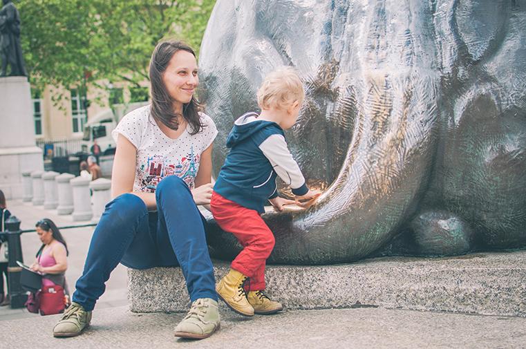 4a.Londyn z dzieckiem -Trafalgar Square