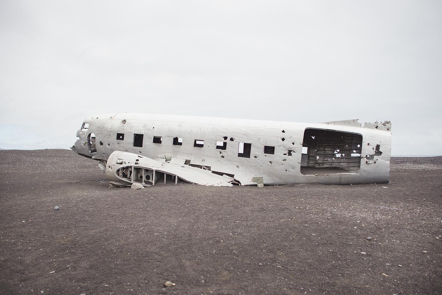 01C. Wrak samolotu Islandia - Dakota- podroz z dzieckiem