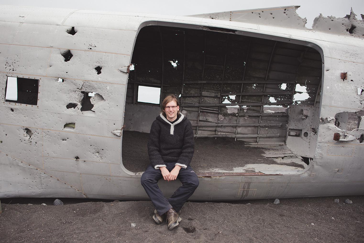 05A.Wrak samolotu Islandia - Dakota- podroz z dzieckiem