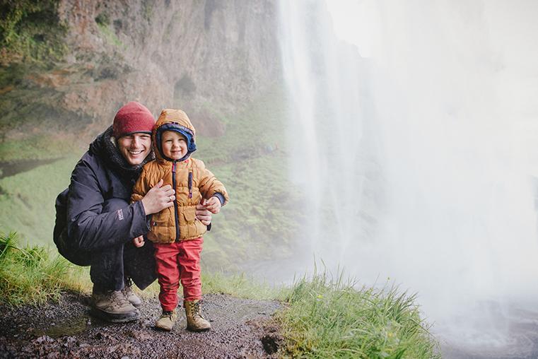 05c.Wodospady na Islandii - Skogafoss - Seljandofoss - podroz z dzieckiem