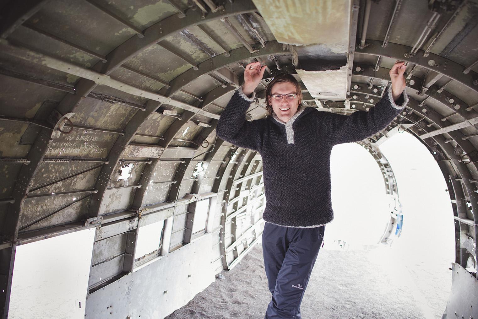 06C.Wrak samolotu Islandia - Dakota- podroz z dzieckiem