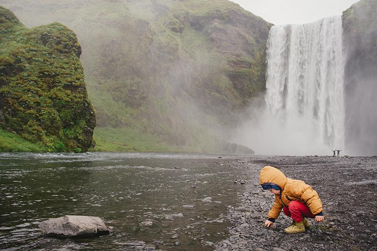 11.Wodospady na Islandii - Skogafoss - Seljandofoss - podroz z dzieckiem