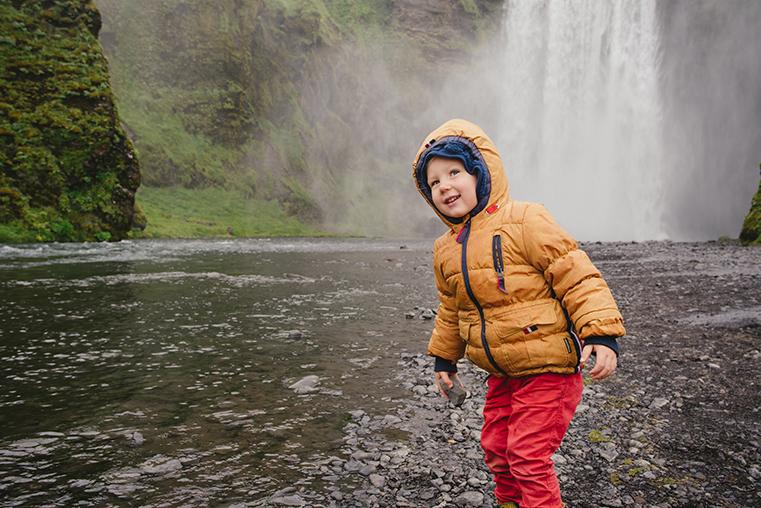 12c.Wodospady na Islandii - Skogafoss - Seljandofoss - podroz z dzieckiem