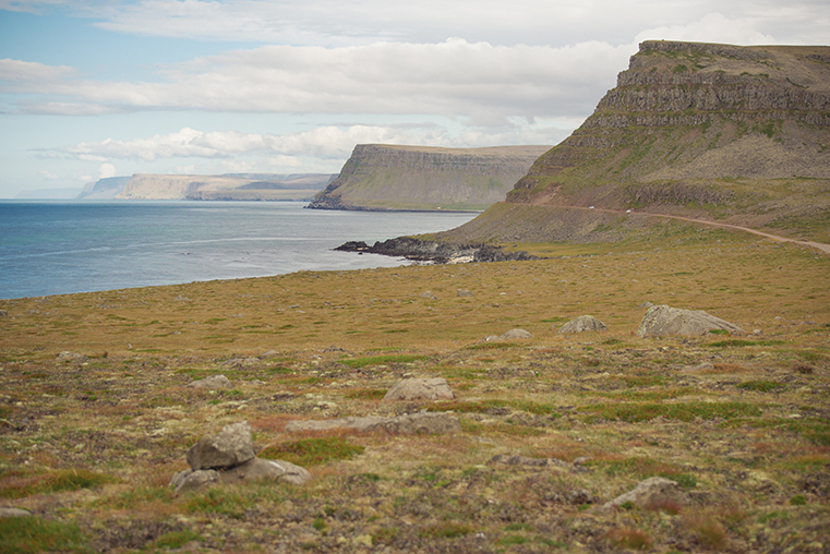 02a.Maskonury Islandia - Latrabjarg - fiordy zachodnie - podroz z dzieckiem