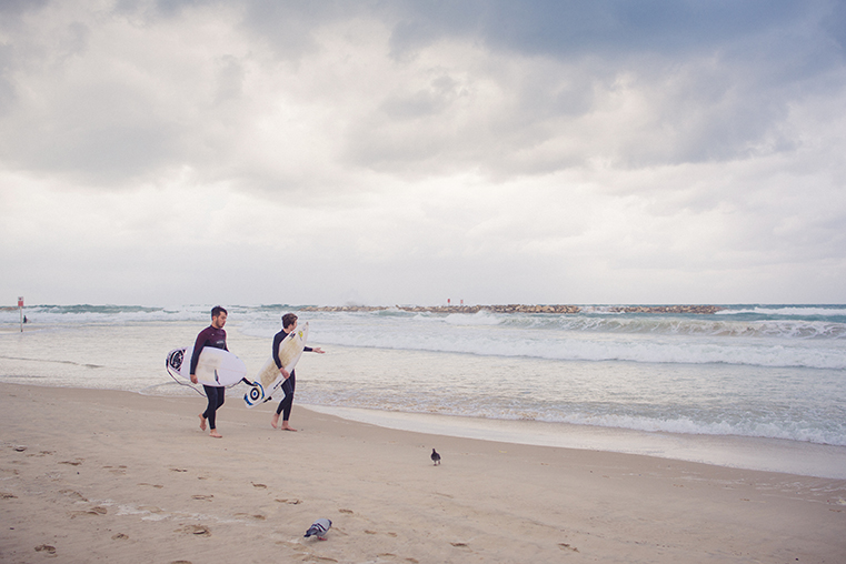 17c.Zima w Izraelu - Tel Awiw z dzieckiem