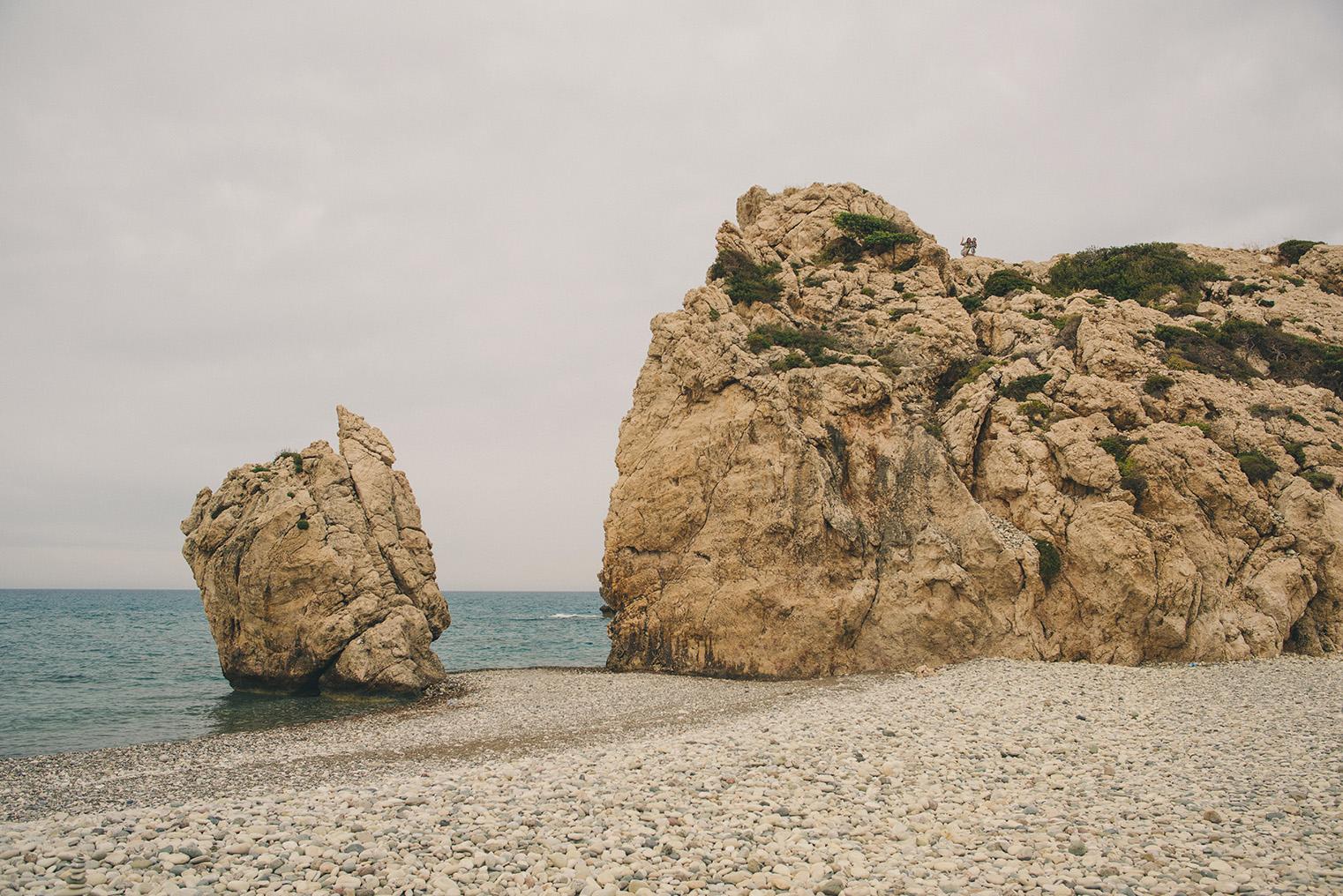 05.Skala Afrodyty - kamienista plaza - Cypr z dzieckiem